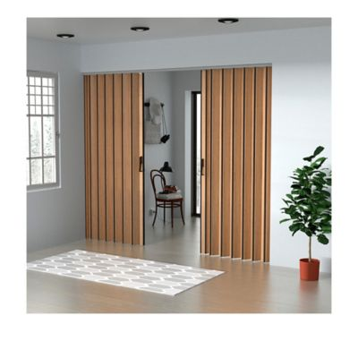 Puerta Plegable Madera Mdp 141-170x240 cm Ap. Central -Rovere