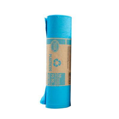 Bolsa Basura Azul 70x90cm 10 Unidades Residencial