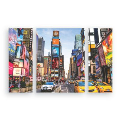 Set x3 Cuadro 3D City 46x62 cm