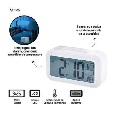 Reloj Despertador Digital Sensor Luz Alarma Y Fecha