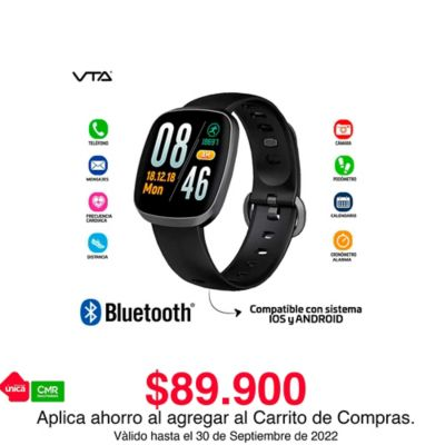 Reloj Inteligente Water Proof Display Led A Color