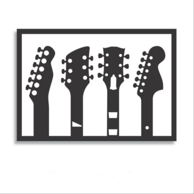 Aplique Calado Remates Guitarras 60x42 cm