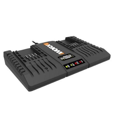 Cargador Batería Litio Doble 20v Worx Wa3869