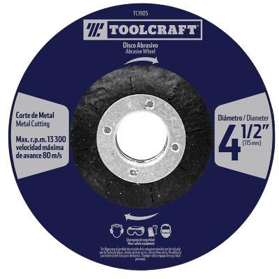 Disco Abrasivo Corte de Metal4 1/2 Pulg