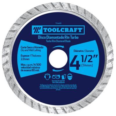 Disco Diamantado de Corte Turbo 4 1/2 Pulg