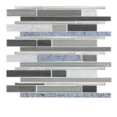 Mosaico Vidrio Timber 31x30cm Gris