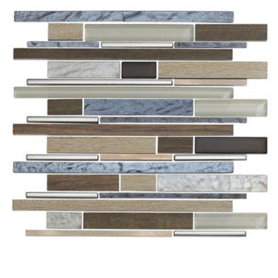 Mosaico Vidrio Timber 31x30cm Beige