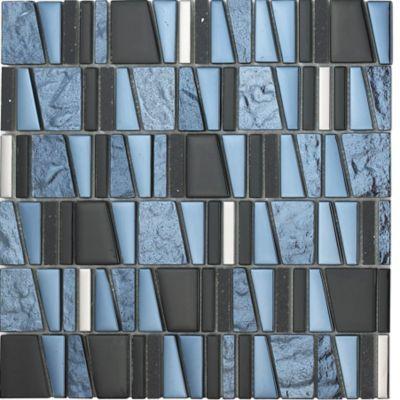 Mosaico Vidrio Marmol Trevisso 30.3x30cm Negro