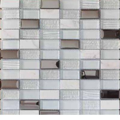 Mosaico Vidrio Cities 30x30cm Blanco