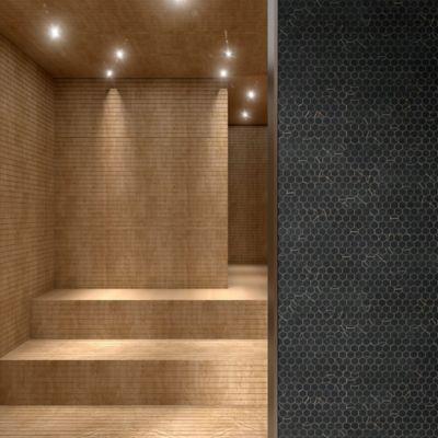 Mosaico Vidrio Supreme Sahara 30.7x31.7cm Negro
