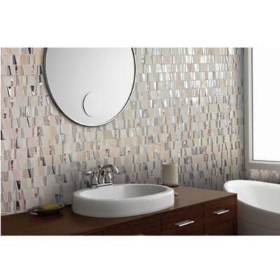 Mosaico Vidrio Marmol Trevisso 30.3x30cm Beige