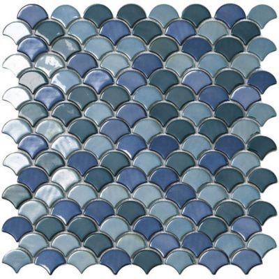 Mosaico Vidrio Soul Gremix 31.7x32.4cm Verde