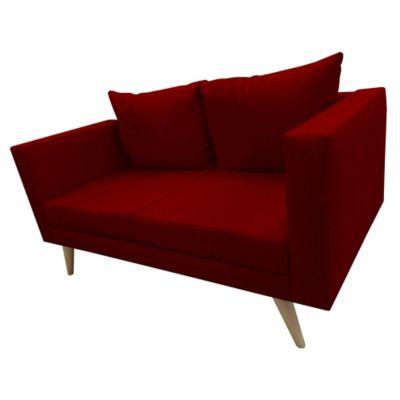 Sofá 2 Puestos Escandi 130x70x85 Paño Rojo