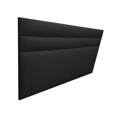 Cabecero Entero Semidoble 120x120 Silon Ecocuero Negro
