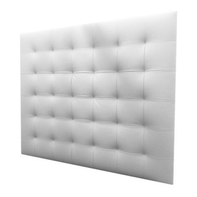 Cabecero Entero Semidoble 120x120 Squares Ecocuero Blanco