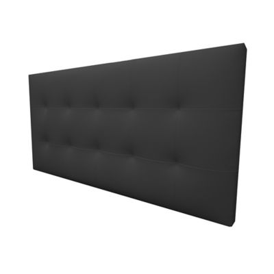 Cabecero Flotante Sencillo 90x60 Squares Ecocuero Negro