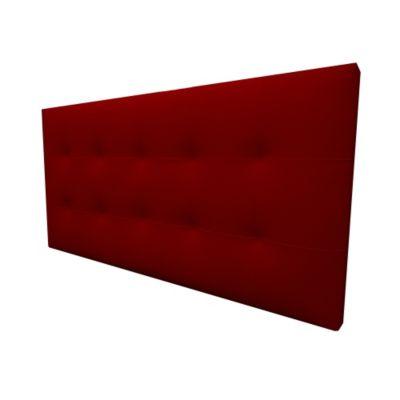 Cabecero Flotante Doble 140x60 Squares Ecocuero Rojo