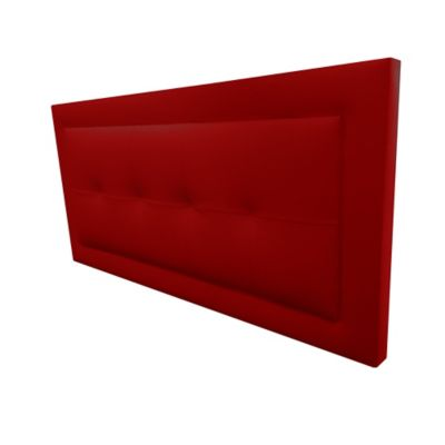 Cabecero Flotante Semidoble 120x60 Centuri Ecocuero Rojo