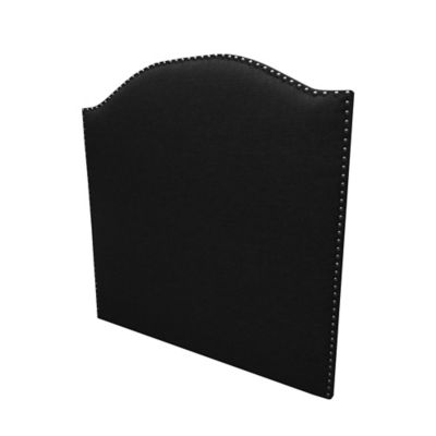 Cabecero Entero Doble 140x120 Estoperol Curvo Paño Negro