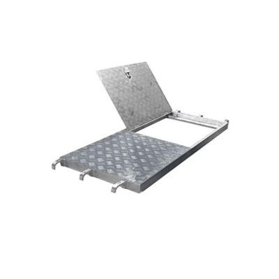 Plataforma en Aluminio con Escotilla de 1400mm x 610mm