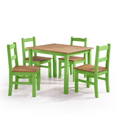 Juego de Comedor 4 Puestos York Verde