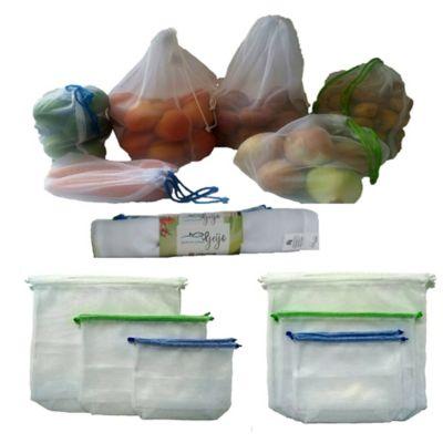 Bolsas Reutilizables Tela Malla Polyester Set 6 Unidades