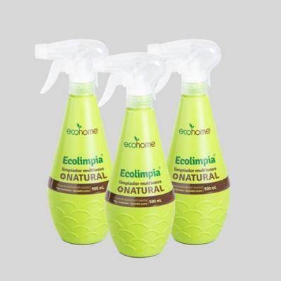Set Repelente Limpiador Multiusos Ecológico 500ml x 3Und