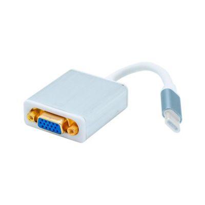 Convertidor De Tipo C A VGA Hembra Y Audio 3.5mm