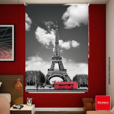 Persiana Enrollable Blackout Torre Eiffel 160x180