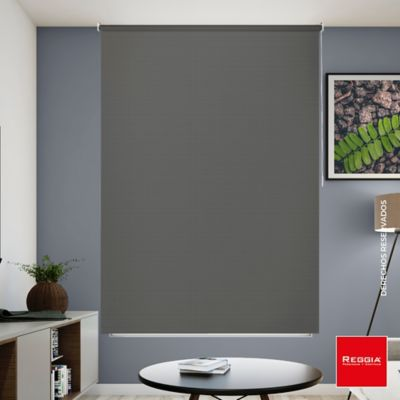 Persiana Enrollable Blackout 120x180 cm Gris Humo