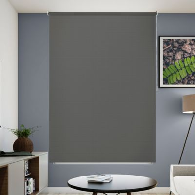 Cortina Enrollable Blackout 120x180 Gris Humo