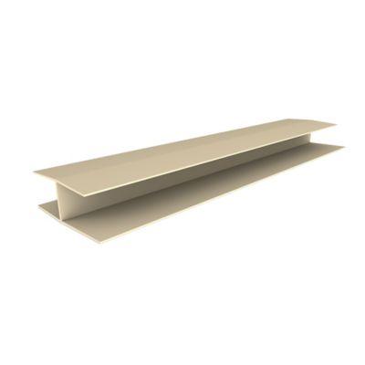 Unión en H de PVC 2.90mt Color Avalon Beige