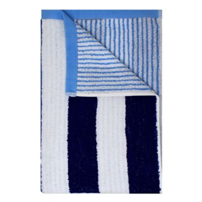 Toalla Semiplaya Rayas 70x150 cm 500 gr Azul