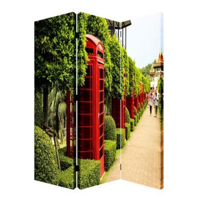 Biombo Cabinas Rojo Verde 120x180 cm