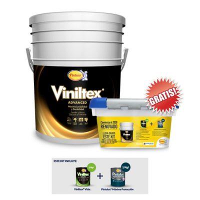 Pintura interior Viniltex 5 Galones Blanca Gratis Kit Especial de Pinturas