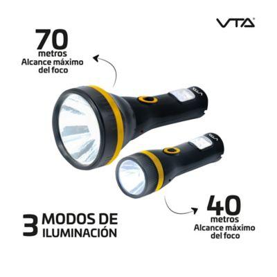 Kit 2 Linternas Recargables Alcance 70 Y 40 Metros
