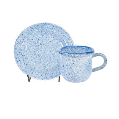 Set para Té 4 Mugs #8 y 4 Platos #14 Arena Azul