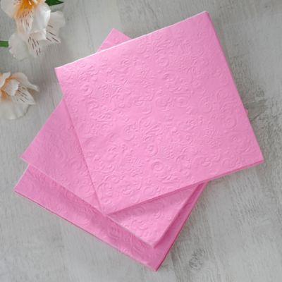 Servilleta Papel 33x33cm Rosa