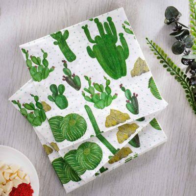 Servilleta Papel33x33cm Cactus P