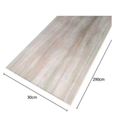 Cielo Raso de PVC 3.48mt2 Color Avalon Beige 4 Laminas de 2.9mt x 30cm x 7cm de espesor