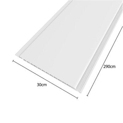 Cielo Raso de PVC 3.48mt2 Color Blanco 4 Laminas de 2.9mt x 30cm x 7cm de espesor