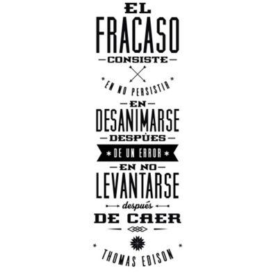 Vinilo Decorativo Frase Thomas Edison Negro