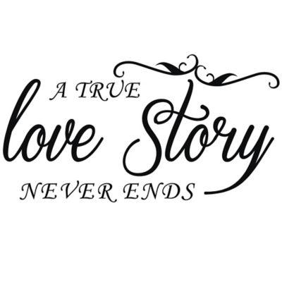 Vinilo Decorativo A True Love Story Negro