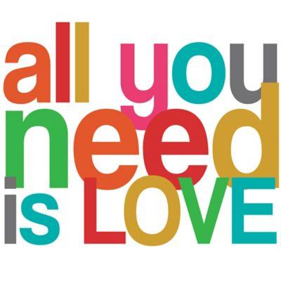 Vinilo Decorativo All You Need Is Love Colores
