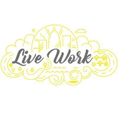 Vinilo Decorativo Live Work Amarillo - Rojo