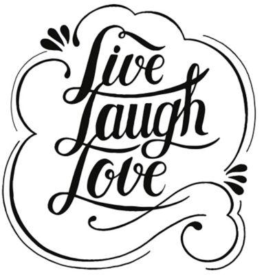 Vinilo Decorativo Live Laugh Love Negro