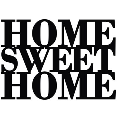 Vinilo Decorativo Home Sweet Home Negro