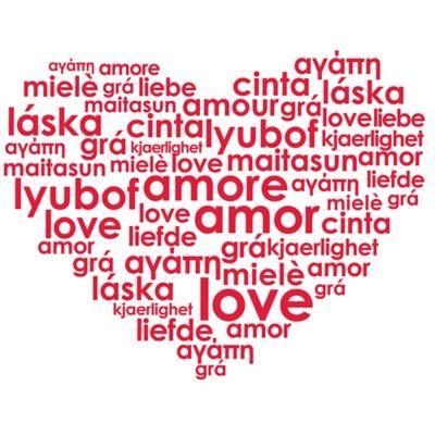 Vinilo Decorativo Love Words Rojo