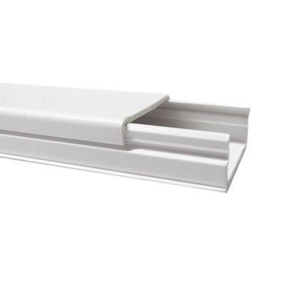 Canaleta 32x12.5 sin Division con Adhesivo Blanca
