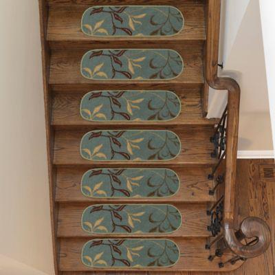 Juego X 14 Tapetes para Escaleras Hojas 66X21.5cm